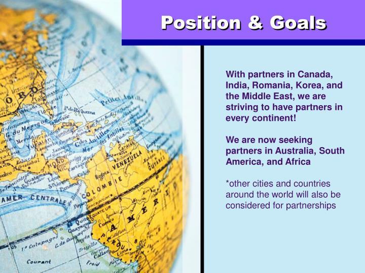 Position & Goals