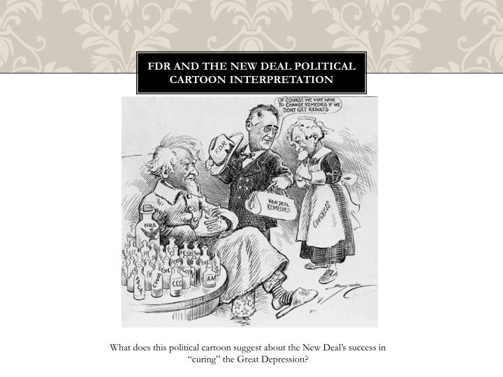 FDR and the New Deal Political Cartoon interpretation