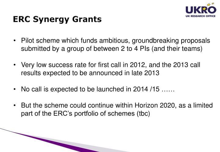 ERC Synergy Grants