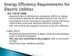 energy efficiency requirements for electric utilities