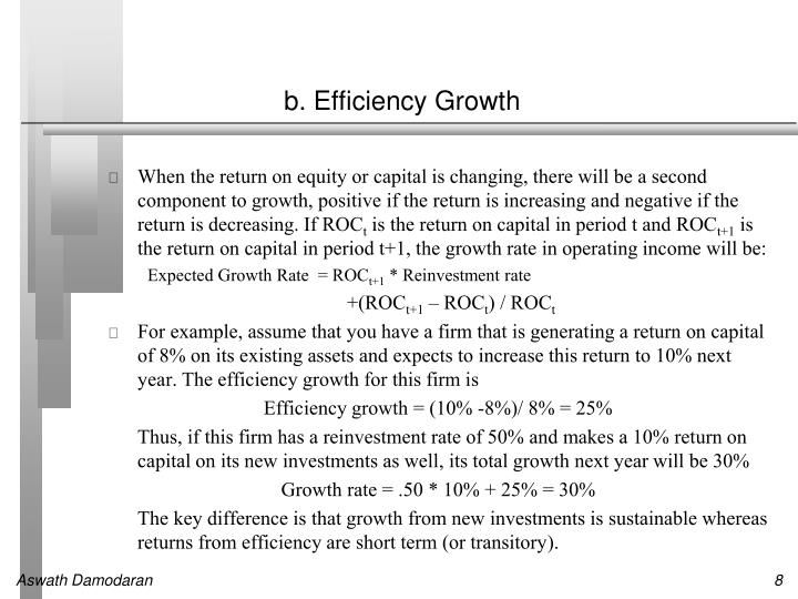 b. Efficiency Growth