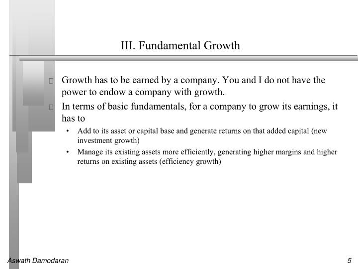 III. Fundamental Growth
