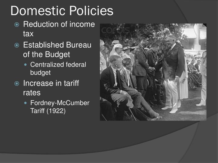 Domestic Policies