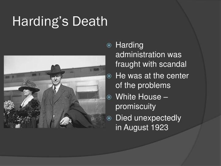 Harding's Death
