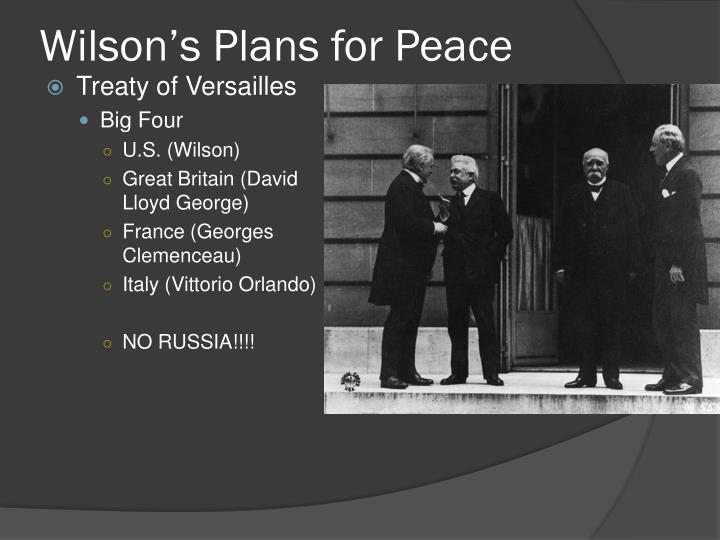 Wilson s plans for peace