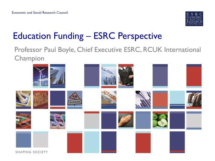 Education funding esrc perspective