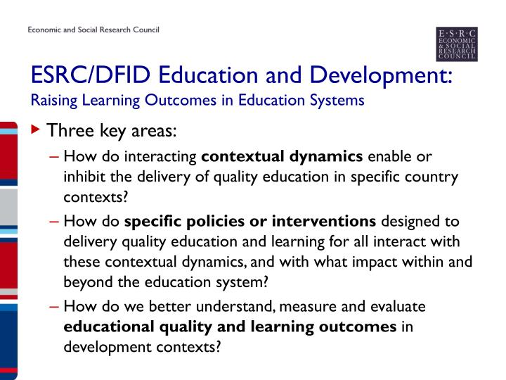 ESRC/DFID Education and Development:
