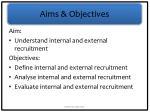 aims objectives1