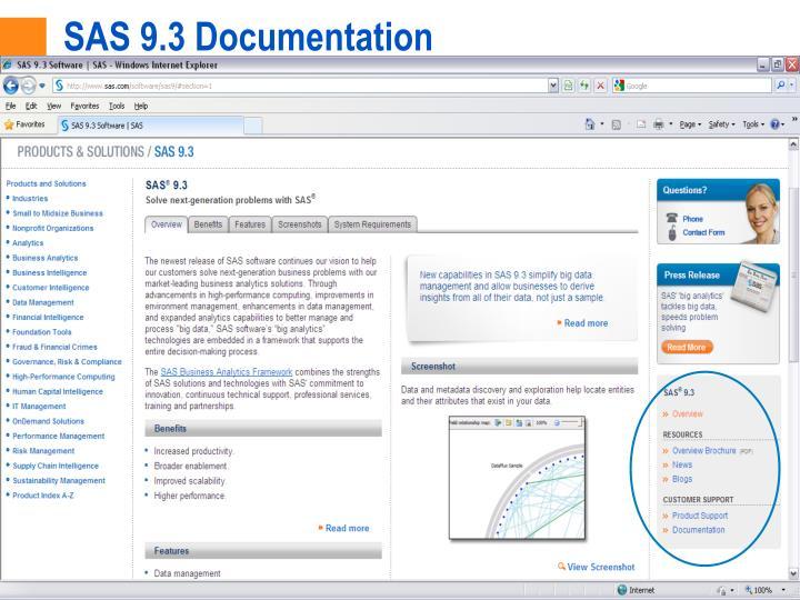 SAS 9.3 Documentation