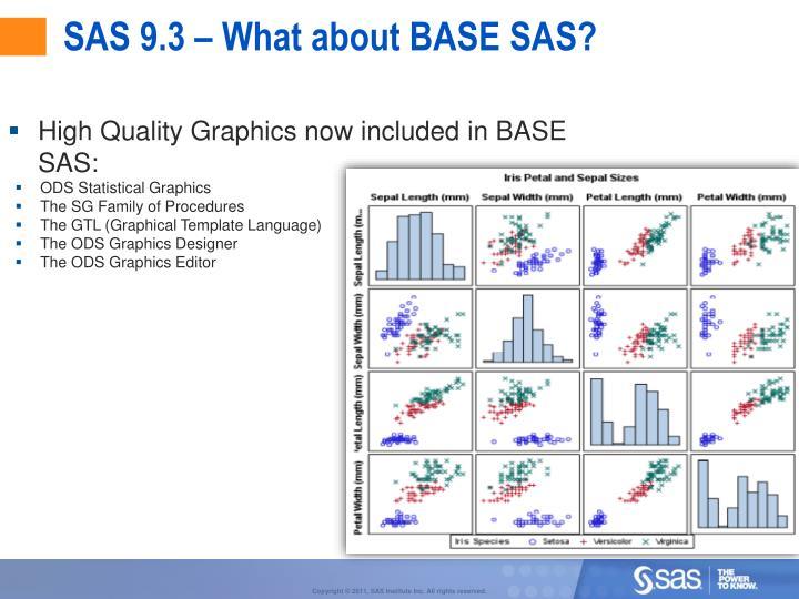 SAS 9.3 – What about BASE SAS?