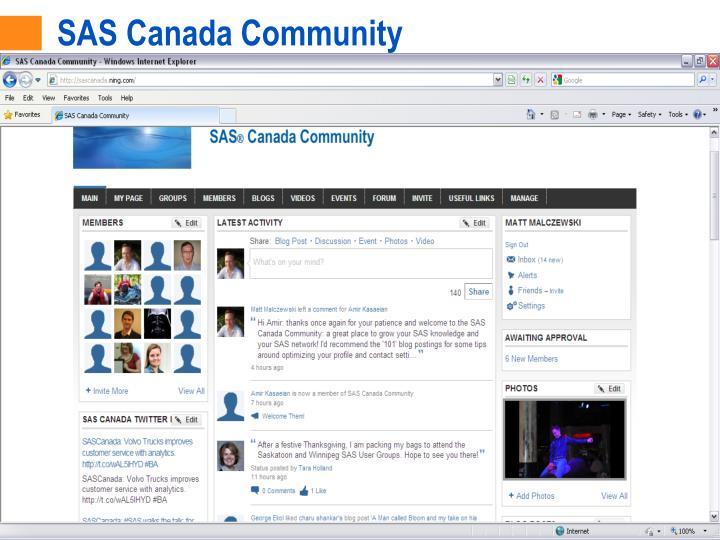 SAS Canada Community