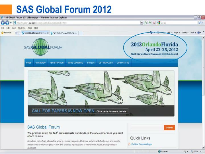 SAS Global Forum 2012