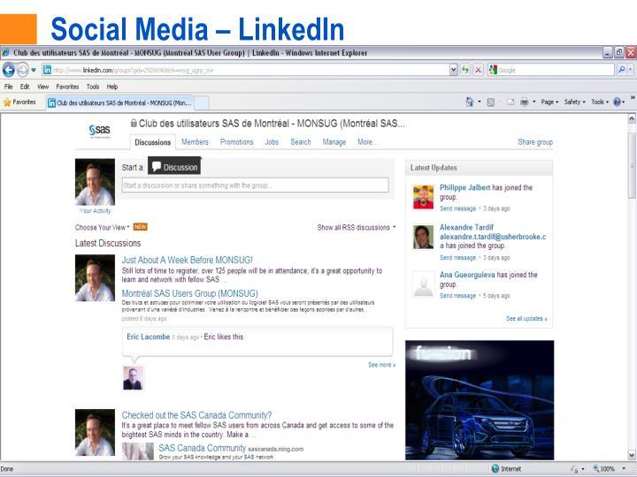 Social Media – LinkedIn
