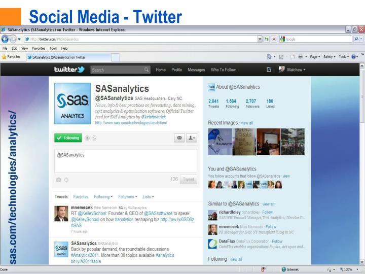 Social Media - Twitter
