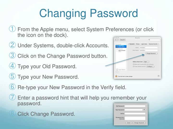 Changing Password