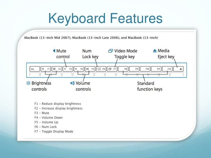 Keyboard Features