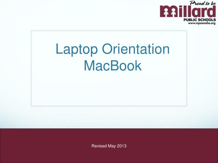 Laptop orientation macbook