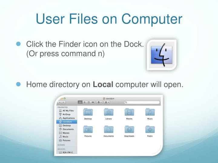User Files on Computer