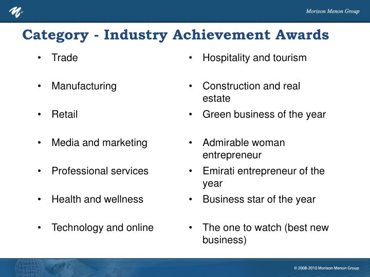 Category - Industry