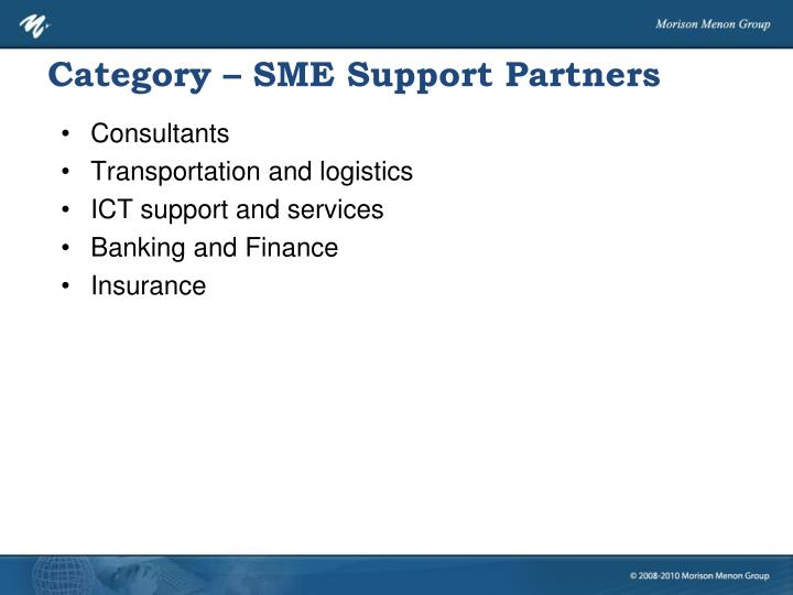 Category – SME Support Partners