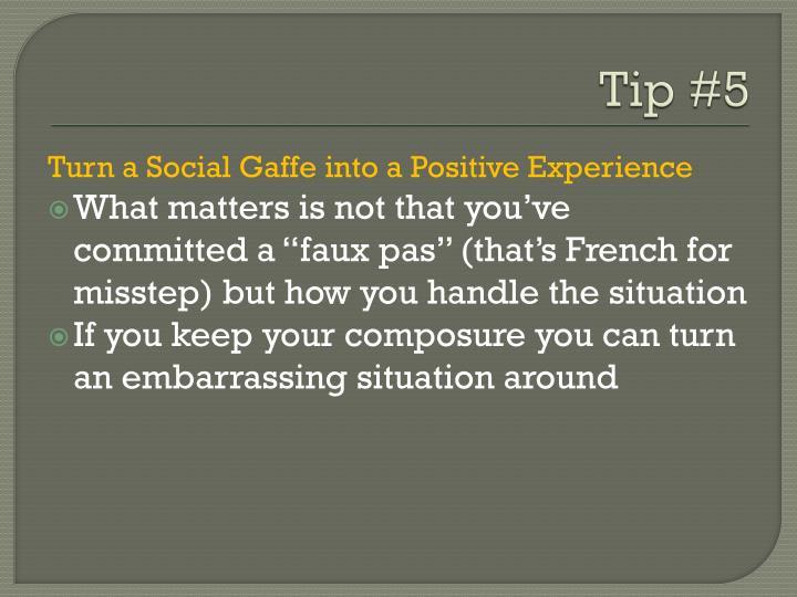 Tip #5