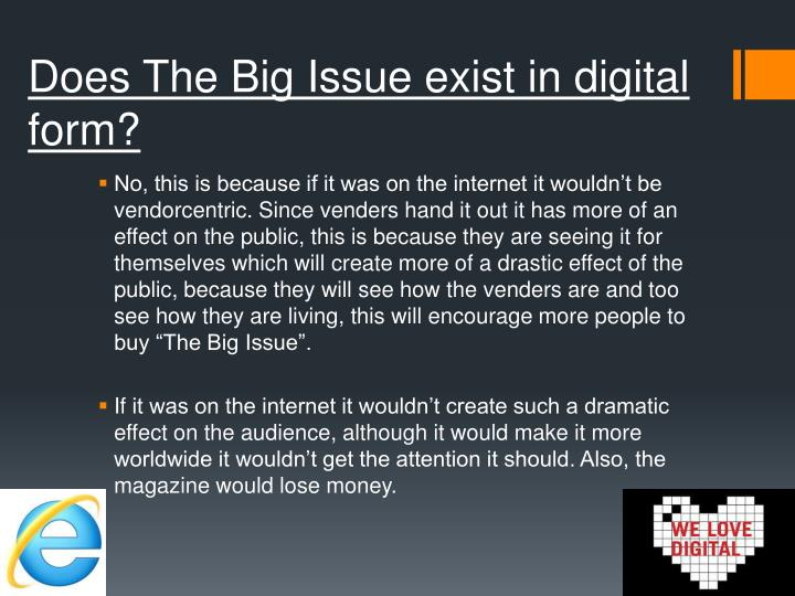 Does The Big Issue exist in digital form?