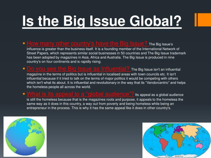 Is the Big Issue Global?