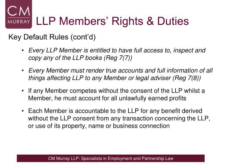 LLP Members' Rights & Duties