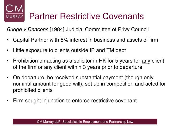 Partner Restrictive Covenants
