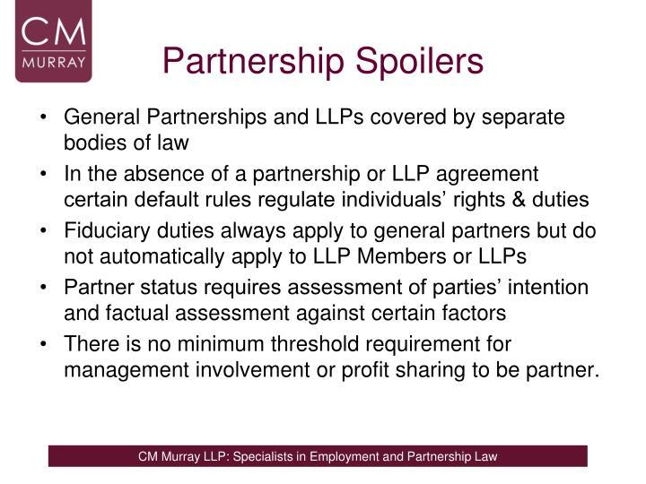Partnership Spoilers