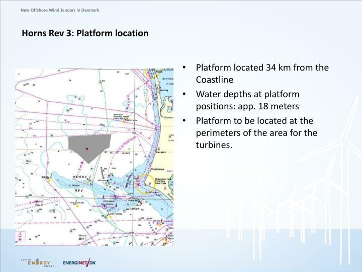 Horns Rev 3: Platform location
