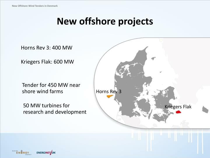 New offshore projects