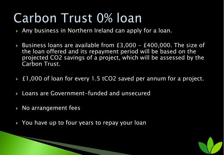 Carbon Trust 0% loan