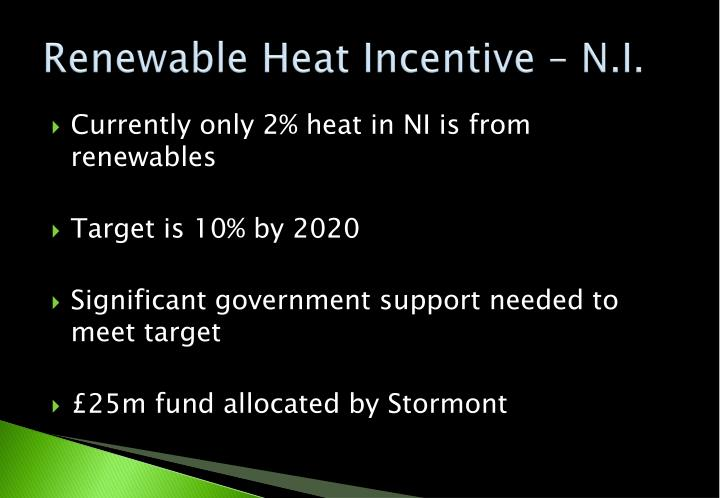 Renewable Heat Incentive – N.I.