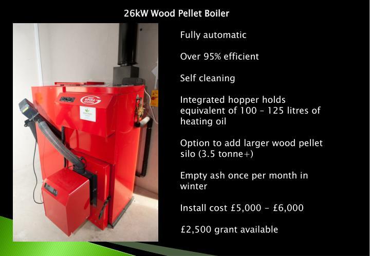 26kW Wood Pellet Boiler