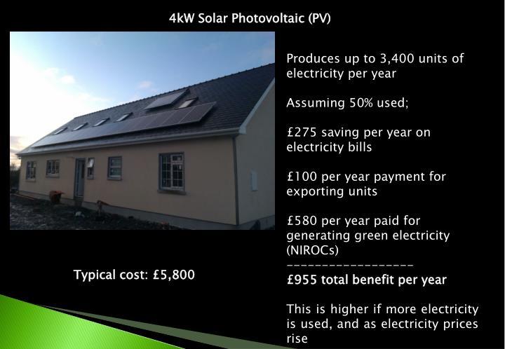 4kW Solar Photovoltaic (PV)