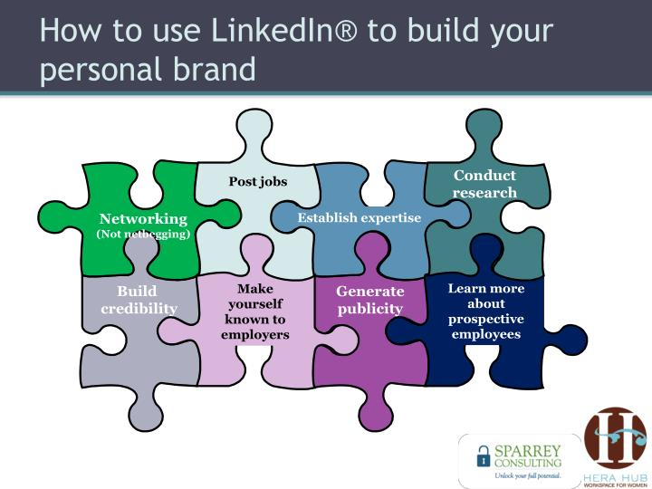 How to use LinkedIn® to build your personal brand