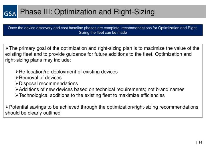 Phase III: Optimization and Right-Sizing