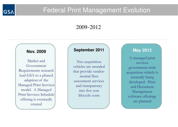 Federal Print Management Evolution