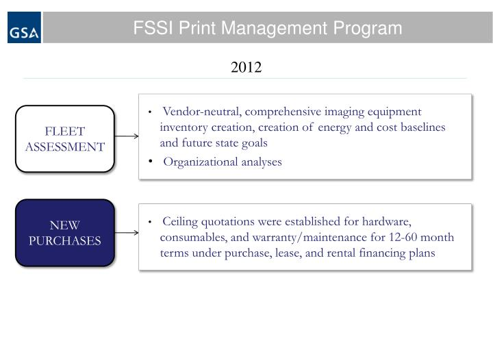 FSSI Print Management Program