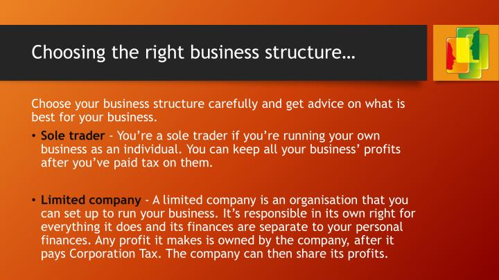 Choosing the right business structure…