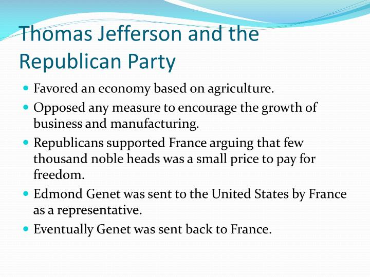 Thomas Jefferson and the Republican Party