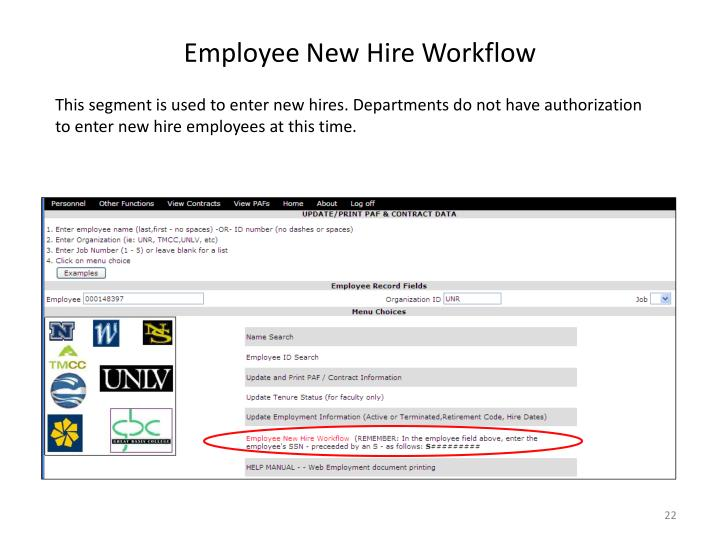 Employee New Hire Workflow