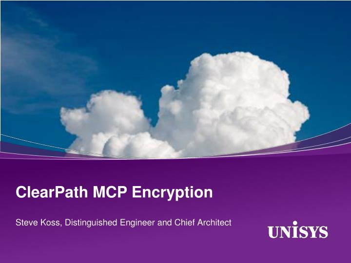 Clearpath mcp encryption