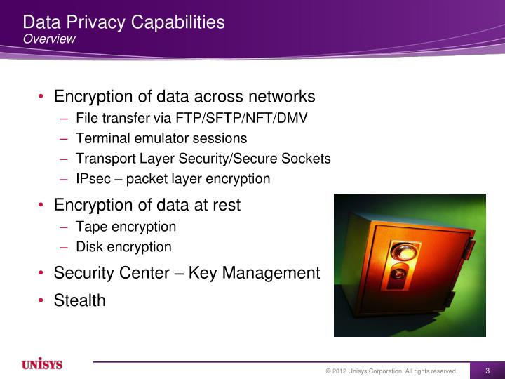 Data privacy capabilities overview