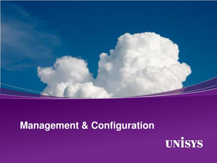 Management & Configuration