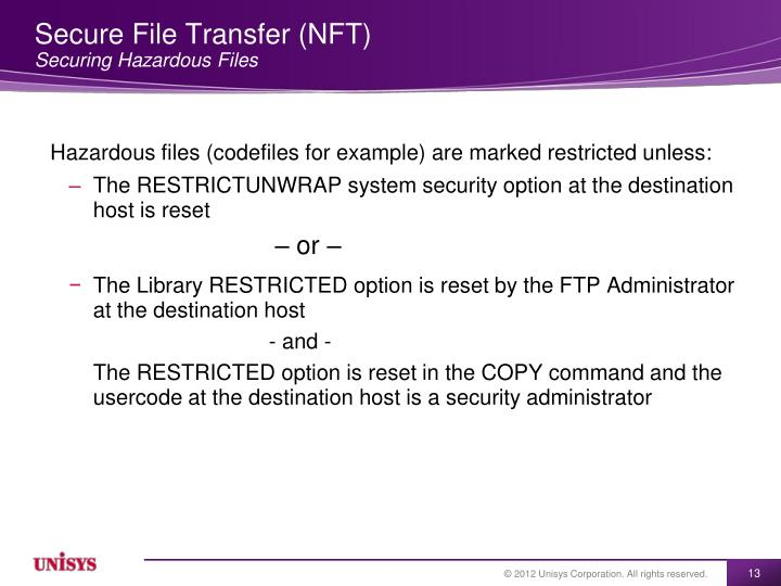 Secure File Transfer (NFT)