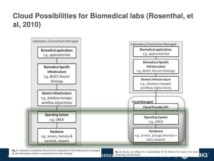 Cloud Possibilities for Biomedical labs (Rosenthal, et al, 2010)
