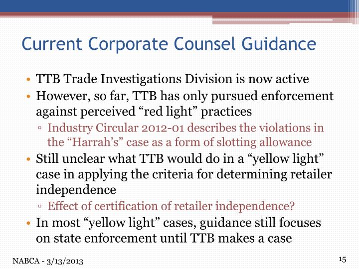 TTB Trade Investigations Division is now active