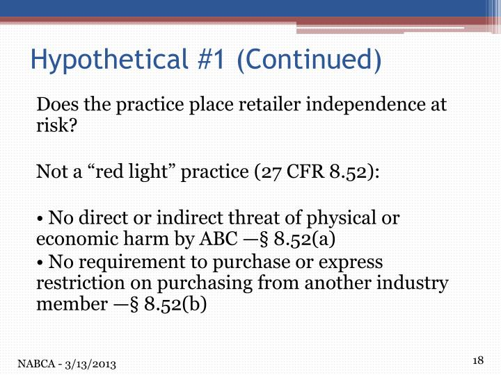 Does the practice place retailer independence at